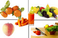 Free Fresh Fruits And Vegetables Collage Stock Photography - 31361112