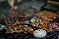 Free Meat Steak On Grill Royalty Free Stock Photo - 31367115