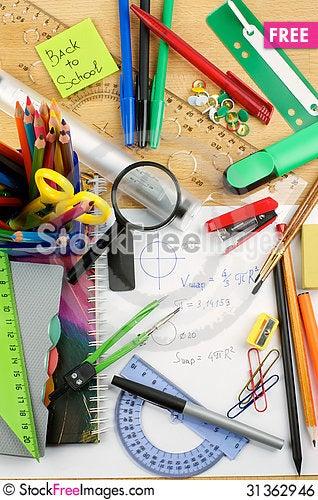 Free School Supplies Royalty Free Stock Image - 31362946