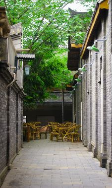 Free Old Styled Architecture And Narrow Alley Stock Image - 31361431