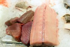 Free Different Fresh Seafood Filets On Ice Royalty Free Stock Photography - 31361927