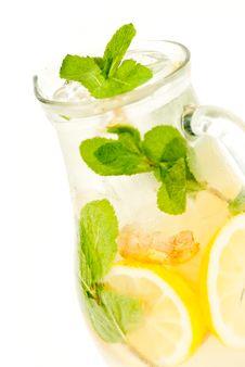 Free Fresh Lemonade From Lemon Ginger And Mint Stock Photo - 31364620