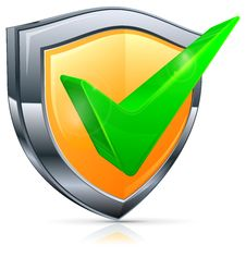 Free Check Mark On Shield Stock Image - 31365081