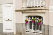 Free Window With Bars And Three Plants. Brugge Old Town Royalty Free Stock Image - 31366036