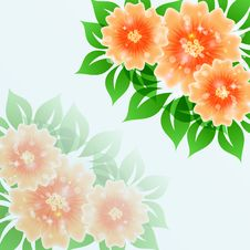 Free Beautiful Flower Vector Blue  Background Illustrat Stock Photos - 31369373