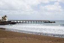 Free Peer On The Coast Of Lanzarote Stock Images - 31374914