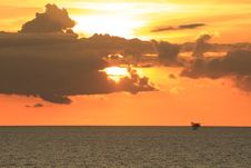 Free Offshore Production Platform In Sunset Time Stock Photos - 31378313