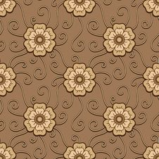 Free Chocolate Flowers Pattern Stock Images - 31378654