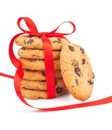 Free Stack Of Cookies & Ribbon Royalty Free Stock Photography - 31378827
