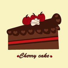 Free Cheery Cake Stock Image - 31379141