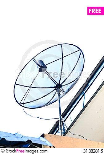 Free Satellite Dish Royalty Free Stock Photo - 31382815