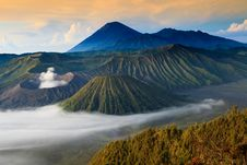 Free Bromo Mountain In Tengger Semeru National Park At Sunrise Royalty Free Stock Photos - 31381418