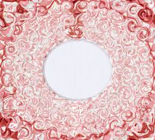 Vintage Rose Background With Frame Stock Photography