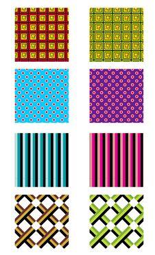 Free Set Of Pattern Royalty Free Stock Image - 31390436