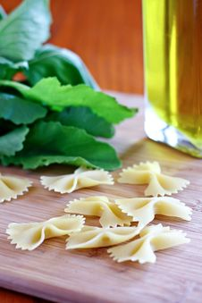 Pasta And Greens Stock Photo
