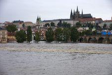 Floods In Prague Royalty Free Stock Photos