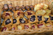 Free Fresh-baked Pastries In A Basket Stock Photos - 31396873