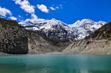 Free Himalayas Mountain Peaks And Lake - Gangapurna Lake Royalty Free Stock Photography - 31398697