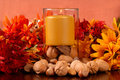 Free Candle With Nuts Stock Photo - 3144860