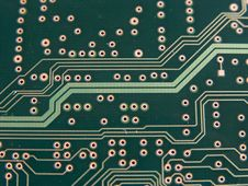 Circuit Path Macro Royalty Free Stock Photo
