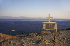 Free Crucifix On The Edge Stock Image - 3140141