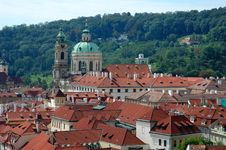 Free Prague Red Tile Roofs Royalty Free Stock Photos - 3140498