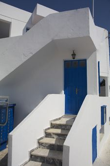 Free Typical Greek House Royalty Free Stock Photography - 3140977