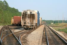 Freight Cars And Tracks Stock Photography