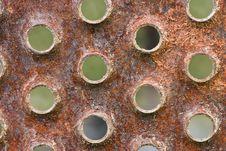 Free Rusty Holes Royalty Free Stock Photography - 3142037