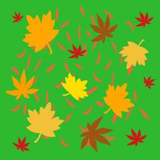 Free Autumn Leaves Illustrated Royalty Free Stock Photos - 3142328