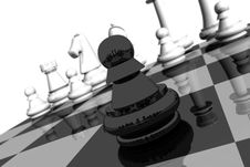 Free Pawn On A Chess Board Stock Photo - 3143060