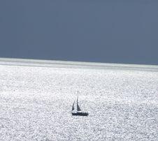 Free Sailing Boat On Sunny Sea Stock Photo - 3143390
