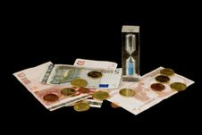 Free Euros And Sand Glass Royalty Free Stock Image - 3143976