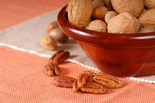 Bowl Of Mixed Nuts Royalty Free Stock Photos