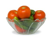 Free Cucumbers And Tomato In Bowl Stock Images - 3144984