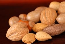 Assortment Of Fresh Whole Nuts Stock Photos