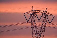 Free Power Elettric In The Sunset Stock Photo - 3146490