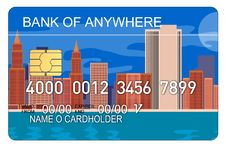 Free Credit Card With Skyscrapers Royalty Free Stock Image - 3147296