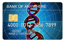 Free Credit Card With Dna Strand Royalty Free Stock Image - 3147346