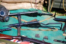 Sten Guns & WWII Relics Stock Photos