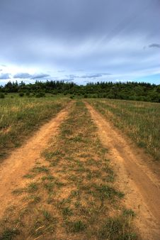 Road To A Field Royalty Free Stock Photography