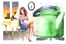 Free Green Teapot Royalty Free Stock Photo - 3148555