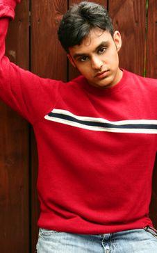 Free Indian Man Posing With Wood Ba Stock Photos - 3148773