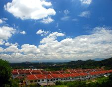 House On The Sky Stock Photo
