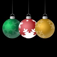 Free Shiny Ornaments Three Royalty Free Stock Photo - 3149765