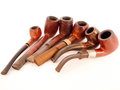Free Six Smoking Pipes Lying Together Isolated On White Royalty Free Stock Images - 31405339