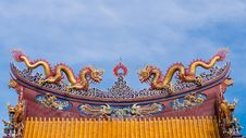 Free Chinese Dragon Sculpture Royalty Free Stock Photo - 31400195