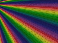 Free Perspective Rainbow Planks Royalty Free Stock Photos - 31400338