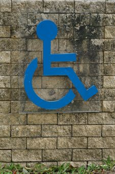 Blue Sign Of A Handicap Accessible Sign Royalty Free Stock Photography