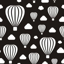 Free Air Balloons Seamless Pattern Stock Photography - 31402572